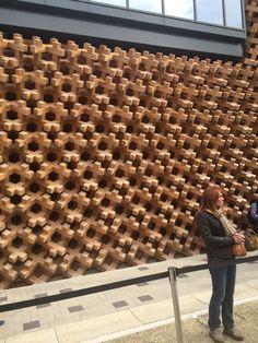 Japan Pavilion Milano Expo 2015 woodwork cladding