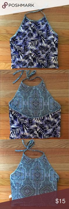 Reversible Patterned Halter This shirt is two in one! Both sides are so cute and looks like two completely different shirts! This is a very cute style for summer! Shirt was NEVER WORN PacSun Tops