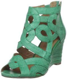 Miz Mooz green wedge sandal... WANT!