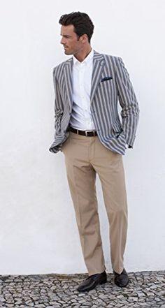 Men's Barbican Blue & Beige Stripe Jacket Avana