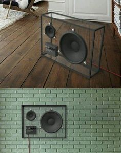 The transparent design lets the speaker blend in to any living room out there. The size can be big enough to offer a good sound quality, yet the speaker takes little visible space Rooms Ideas, Transparent Design, Audio Room, Speaker Design, Sounds Great, Speaker System, Speaker Kits, Cool Tech, Deco Design