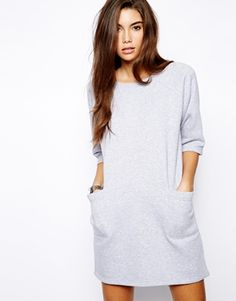 Image 1 of Daisy Street Sweat Dress with Pockets