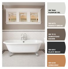 """Perfect Greige"" wall paint color by Sherwin Williams ~ M. Bathroom?"