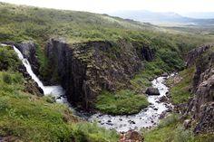 River at Egilsstadir, east of Iceland.