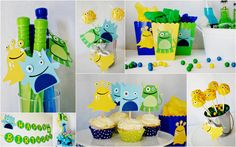 Our Little Monster Party Items Collage by http://pinwheellane.etsy.com