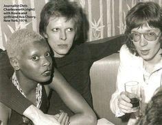 Ava Cherry, David Bowie and Chris Charlesworth
