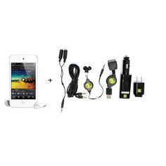 $159.99 Apple iPod touch 8 GB (4th Generation) WHITE - Store Return + 6 Pc Piece Accessory Kit, Bundle by Apple