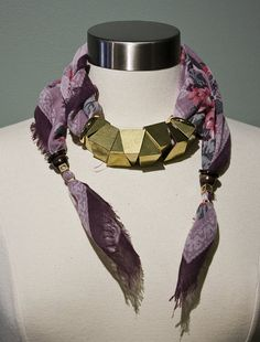 scarf necklace - Google Search