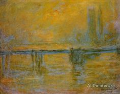 Claude Monet Charing Cross Bridge, Fog oil painting reproductions for sale