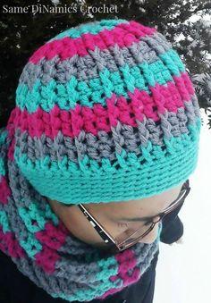 free crochet hat pattern cables and stripes* ༺✿ƬⱤღ http://www.pinterest.com/teretegui/✿༻