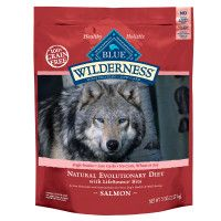 Blue Buffalo Wilderness™ Salmon Dog Food. We love this stuff for our Bulldogs !