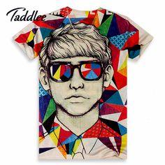 2015 Model new Men short sleeve t-shirt men 3d t shirt printing casual tshirt tops summer Men O neck print T-shirts tee clothes