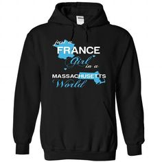 I Love FRANCE-MASSACHUSETTS T shirts