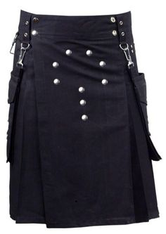 Black Utility Modern Kilt for Ren Faire/Steampunk Leather Fashion, Mens Fashion, Fashion Outfits, Kilt Pattern, Modern Kilts, Men In Kilts, Kilt Men, Leather Kilt, Gothic Men