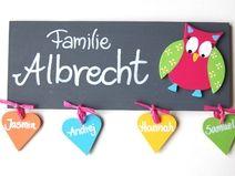 Luxury T rschilder Namensschilder und Buchstaben aus Holz Deko f r us Kinderzimmer liebevolle Kleinigkeiten