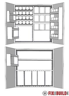 How to Build DIY Wall Cabinets with 5 storage options. Customize these shop cabinets to organize your garage or workshop. Video tutorial and plans! Diy Garage Storage Cabinets, Garage Tool Storage, Garage Workbench, Shop Cabinets, Diy Cabinets, Woodworking Table Plans, Woodworking Tools, Wooden Toy Boxes, Shop Storage