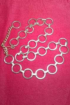 Vintage Costume Jewellery 1980s seventies inspired belt necklace For Sale