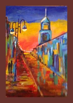 Sunset City is one of my favorite lesson. R.J. did an awesome joby on the perspective and colors in this one.