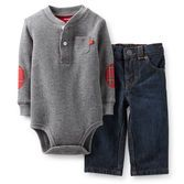 Carter's® Long-Sleeve Thermal Bodysuit and Jeans Set – Boys found at Outfits Niños, Baby Boy Outfits, Kids Outfits, Toddler Outfits, Baby Boy Fashion, Kids Fashion, Bodysuit And Jeans, Carters Baby Boys, Newborn Boys