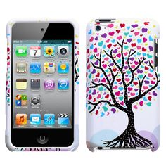 i pod touch case- colorful tree