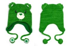 Care Bear Lucky Green Laplander Hat