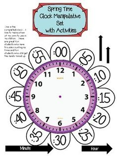 First Grade Telling Time to the Hour and Half Hour ~ Spring Forward Teaching Time, Teaching Math, Math Classroom, Kindergarten Math, Math Resources, Math Activities, Learn To Tell Time, 2nd Grade Math Worksheets, Math Lessons