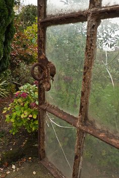 great old crusty rusty window - I want one of these to use on my outside room use winsow in courtyard or yard art in back yard