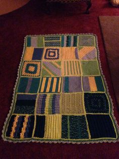 Stitch cation afghan squares