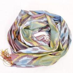 Maori Design Silk Ikat Scarf | Shop Alesouk