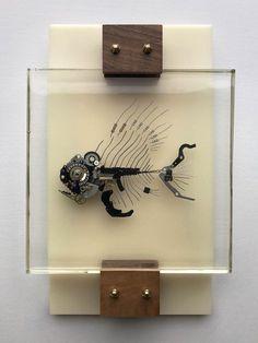 Mech-Fossils – Lex Talkington Metal Art Sculpture, Fish Sculpture, Abstract Sculpture, Bronze Sculpture, Found Object Art, Found Art, Robot Art, Robots, Steampunk Design