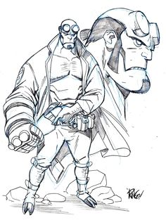 Hellboy sketch by Mike Wieringo