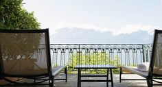 Terrace of a Deluxe Room - The Deluxe Rooms offer a magnificent view of Lake Geneva and the Alps. The majority of these rooms are equipped with either a balcony or a terrace.