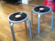 Tabouret vinyles