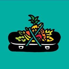 Illustration by veganskateblog #skate #fun #illustration