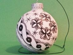Pens and Patterns Zentangled Christmas Ornament by Brandi Cooper