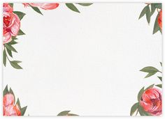 Red Peony | Stationary Cards - Paperless Post