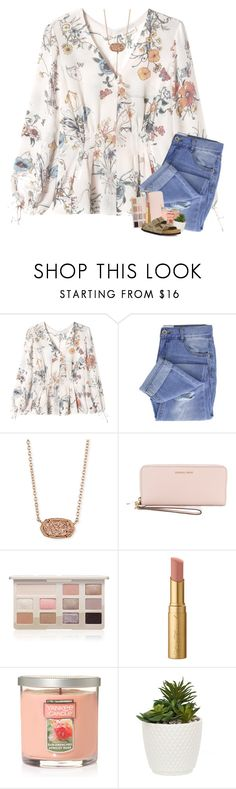 """"" by mre7986 ❤ liked on Polyvore featuring Rebecca Taylor, Taya, Kendra Scott, MICHAEL Michael Kors, Too Faced Cosmetics, Yankee Candle and Birkenstock"