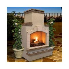 Found it at Wayfair - Propane Gas Outdoor Fireplace