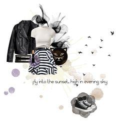 """#np black crow - jamiroquai"" by taralized ❤ liked on Polyvore featuring Charlotte Olympia, shu uemura, Giorgio Armani and Converse"