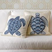 Sea Turtle Needlepoint Pillows Gumps