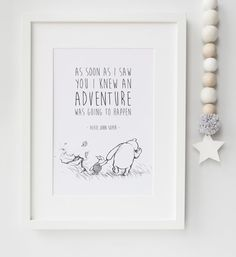 Peter rabbit baby quote beatrix potter nursery print picture personalised new babychild boygirl winnie the pooh quote nursery birth name print keepsake picture christening gift negle Choice Image