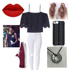 """""""carnival date with calum"""" by soslover90 ❤ liked on Polyvore featuring Ganni, Vans and Savannah Hayes"""