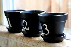 paint black and stencil number...super easy #crafts