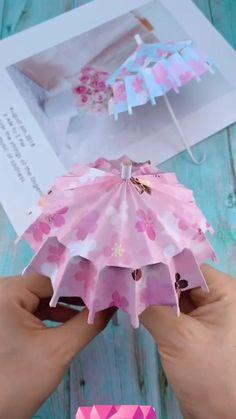 Diy Crafts Love, Cool Paper Crafts, Paper Crafts Origami, Diy Crafts For Gifts, Crafts For Girls, Diy Arts And Crafts, Diy Paper, Creative Crafts, Instruções Origami