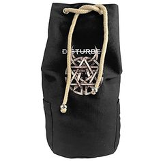 Cool Disturbed Warning Sign Logo Quotes Drawstrings Gym Backpack Bag -- You can find out more details at the link of the image.