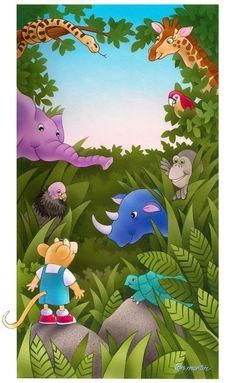 Jungle+Friends by+lynmartinart