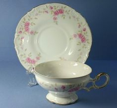 Cup and Saucer Set (Footed) in the Vendome dinnerware pattern by Mikasa China. $11.99