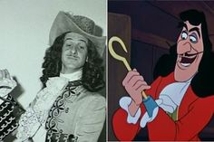 Hans Conried - Captain Hook | Here Are The Real Life People Your Favorite Disney Characters Are Modeled After