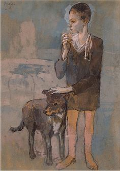 Pablo Picasso 1905 - Boy with a dog
