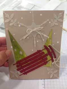Stampin' Up! demonstrator Sarah E's project showing a fun alternate use for the Watercolor Winter Simply Created Card Kit.